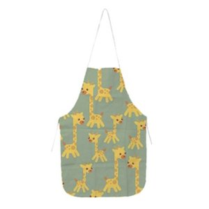 Heat Transfer Kitchen Apron Polyester Home Sublimation Blank Half Length Sleeveless Aprons DIY Creative Gift 70*48CM 50% off high