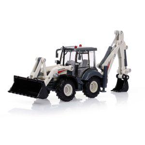 1:50 4 Wheel Shovel Loader Alloy Diecast Excavator Two-way Forklift Bulldozer Backhoe Loader Truck Model For Kids Gift Toys H1013