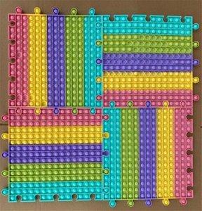 30cm Square Antistress Fidget Toys Push Bubble Sensory Autism Stress Reliever Toy Adult Kids Big Size