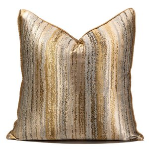 Model room hotel bedroom bedside modern  sofa gilt pattern case cushion waist pillow
