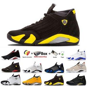 handsome Jumpman 14s DMP 14 Mens basketball shoes Gym Red XVI Reverse Last shot Hyper Varsity Royal men sports sneakers 7-13 Desert sand With Box University Gold