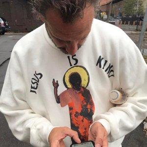 Kayne West Jésus est King Sweat-shirt Marque Mens de Sweat Hoode Capuche Casual Casual Câwneck Pull pour hommes Femme Couple Couple Hip Hop Street Tenue