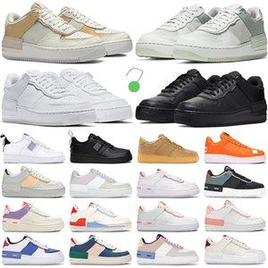 2021 force 1 af1 one shoes shadow erkek kadın koşu ayakkabıları nike moda eğitmenler gölge üçlü Ladin Aura Soluk Fildişi Yıkanmış Mercan Aurora Safir erkek açık spor air ayakkabı
