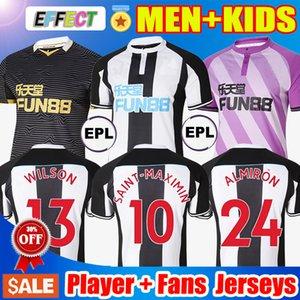Newca stle 21 22 home Soccer Jerseys United FERNANDEZ WILSON 2021 2022 JOELINTON Football ShirtS ALMIRON RITCHIE GAYLE LEWIS JUNIOR Men Kids NUFC Kits maillot de foot