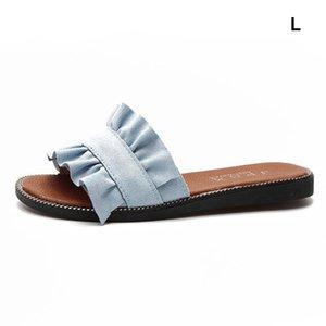 Mujeres Moda de gamuza zapatillas de cuero Sandalias de verano Zapatos Boho Playa Pie al aire libre Desgaste Casual Slides Zapatos AjdFtokausetyWhfVJH