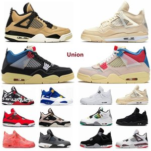 2021 air jordan jordans aj4 4s jordon jordons 4 4s Union noir guava ice Jumpman Mens Shoes sail Neon metallic purple basketball Sneakers Black cat bred Fire Red Trainers tin2#