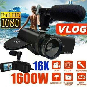 Camcorders 1080p 16x Zoom Digital Camcorder Video Camera Dv Recorder External Microphone F9j9