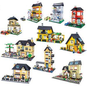 DIY House Model Garden Assembled Building Blocks Luxury Villa Children Toy City Baby Boys and Girls Toys