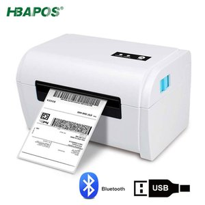 Printers HBAPOS Label Printer Address Thermal Maker 4X6 Bar Code Sticker Machine USB   Bluetooth LAN Port High Speed