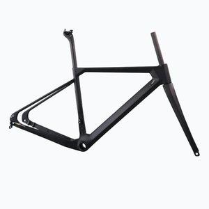 자전거 프레임 2021 플랫 마운트 디스크 브레이크 카본 자갈 프레임 전체 내부 케이블 크기 49 / 52 / 54 / 56 / 58cm 142 * 12mm 리어 액슬