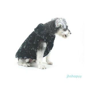 애완 동물 벨벳 두꺼운 자켓 클래식 플로라 패턴 Bichon Coat 럭셔리 소프트 터치 불독 따뜻한 조끼