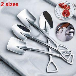 304 stainless steel coffee spoons Retro shovel ice cream dessert watermelon spoon Creative tea-spoon Fashion Tableware XZA2146