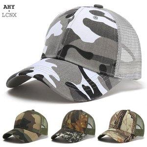 Mesh Summer Sun Hat Caps Für Männer Frauen Einstellbare Baseballmütze Herren Trucker Hüte Camo Camouflage Damen Baseballmütze