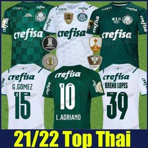 2021 2022 Palmeiras Jersey Soccer Home Away Felipe Melo L.Adriano Jersey de football G.Veron G.Gomez Breno Lopes Camisa de Palmeiras 21/22 Ventilateurs