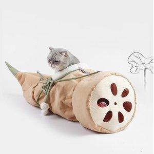 Chat lits meubles chats tunnel lit lotus racine en forme doux confortable peluche suspendue hamac