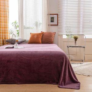Sheets & Sets Bonenjoy 1pc Warm Flat Bed Sheet Double Size Velvet Queen King Sabanas Cama 150 Soft Blanket Top For Winter
