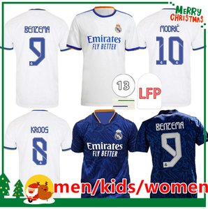 21 22 camisetas del REAL MADRID fútbol camisetas de fútbol ALABA PELIGRO SERGIO RAMOS BENZEMA ASENSIO MODRIC MARCELO camiseta hombre niños kit mujer 2021 2022 uniformes cuarto