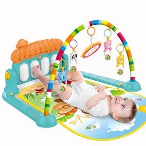 Huanger Play Mat Bebek Bulmaca Halı Müzik Piyano Klavye ile Eğitim Raf Spor Salonu Oyuncaklar Bebek Fitness Çocuklar Için Arşivleme Hediyeler 210320