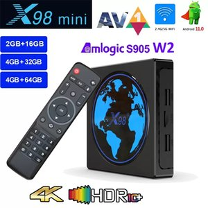 X98 Mini Smart TV Box Android 11 4GB RAM 64GB 32GB Amlogic S905W2 2.4G 5G Wifi 4K 60fps Set Top Box X98Mini 2GB 16GB vs H96 Max