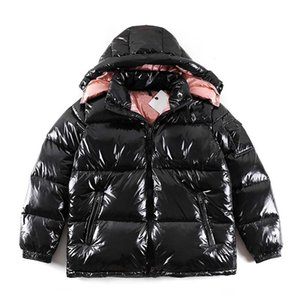 Womens Hiver Down Coats Femmes Outwear Parkas Vestes Mode Lettres Modèle Poids léger Poids lumineux Mens ferme fermeture à glissière de poche