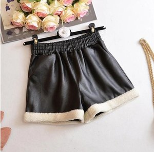 Shorts 2021 Wholesale Girls Leather Thicken Autumn Winter Fashion 3-8t C43