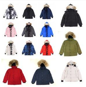 Mens winter canada jacket Fourrure Down coat women fur jackets parka men parker womens woman hoodie Windbreaker goose