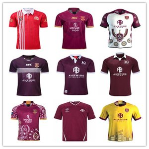 2020 2021 Queensland Maroons Malou Rugby Gömlek QLD Maroons Malou Rugby Jersey 2021 QLD Maroons Menşei Durumu Rugby Jersey Boyut S - 3XL