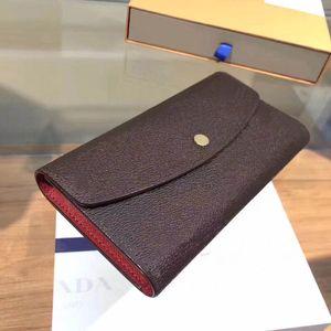 MUJERES FAMOSAS MUJERES CLÁSICOS Patrón de impresión de alta calidad Monedero de damas 3 Color Titular de la tarjeta de crédito Tri-Fold Mano Bolsa con caja