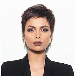 Straight Short Pixie Cut Bob Non Lace Front Human Hair Wigs For Women Remy Full Machine Wig