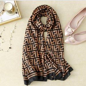 2021 Новая мода шелковый шарф шарфы шали леди Wraps Softtie Band Bag Bag Warp Мягкий шелкового времени Hijab Headscarf Женская юбка