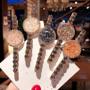 INS Moda Crystal Girls Play Clips Boutique Designer Clips de pelo Mujeres Princess Diseñador Accesorios para el cabello para las mujeres BB Clips 293 U2