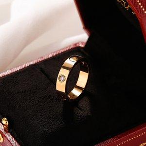Designer ring for men and women, luxury brand 4mm 6mm titanium steel love rings fashion letters, women's favorite gift