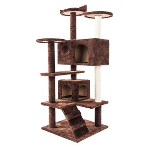 "Waco Cat Tree Condo Tower Feal Play House, Sisal Vail царапаясь Сообщений окуней подниматься Дома Гамака, Центр активности Kitty, 52 ""Браун"