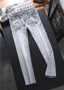 Mens Designer Business casual Jeans Classic elasticity Vintage Slim Trousers Fashion Holes Tie Dye Cowboy Famous Brand Zipper Hip Hop Denim US Size 28-38
