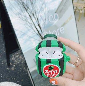 3D Japan cartoon watermelon juice bottle airpods cases for airpod 1 2 3 pro
