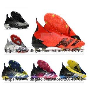 Подарочная сумка Мужская высокая лодыжка Футбольные ботинки хищник Freak + FG твердые зажимы наземные брюки взорные тренажеры Pogba 21 на открытом воздухе X человек футбольные туфли