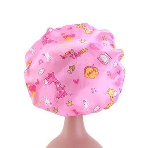 Chapeau d'impression Baby Baby Round Dot Cap Kids Dauphin Broken Flowers Imitation Soie Multi Couleur Femme Homme NightCap 4 7JD K2