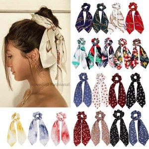 Chiffon Bowknot Эластичные полосы для Женщин Девушки Желень Ударные Оголовья Галстуки Держатель Holidail Мода Аксессуары для волос