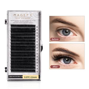 DIY False Eyelashes Extension Premium C Curl Natural Soft Fluffy Fake Lashes Individual Volume Eyelash Professional Makeup Tool