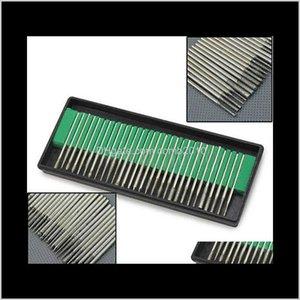Wholesale- 30Pcs Diamond Burr Bits Drill For Engraving Etching Dremel Rotary Nail Art Tool Set 1U6O 2Opg A7E1 1Chbz Vnwpk