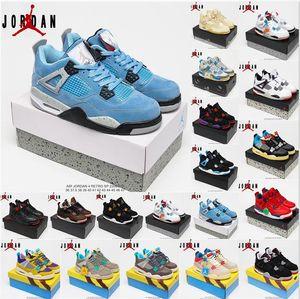 Nike Air Jordan 4 RETRO Womens Mens Jumpman 4s Basketball Shoes men women jorden Sail Tattoos White Oreo University Blue Fire Red Taupe Haze Travis Bred Sneakers