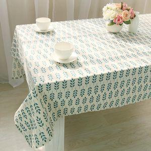 Table Cloth Korean Fresh Green Wheat Ear Printing Household Tablecloth Cotton Linen Sofa Towel Antependium