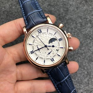 Moda Relojes para hombre Dial negro Calendario automático Pulsera de oro Descuento Master Menswear Gift Watch Militares de alta gama militar