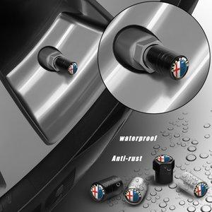 New 1PCS Metal Auto Wheel Tire Valve Stem Caps Cover For Alfa Romeo 159 147 156 166 Giulietta Giulia Mito Spider Car Accessories