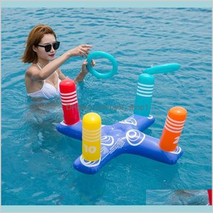 Summer Beach Inflatable Throwing Rings Water Fun Toys Cross Floats Swimming Pool Floating Gifts Sports Outdoor Play Sand Pla Fqidh