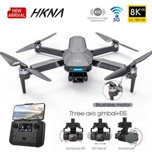 KF101 GPS 무인 항공기 4K Professional 8K HD EIS 카메라 안티 쉐이크 3 축 짐벌 5G 와이파이 브러시리스 모터 RC 접이식 Quadcopter