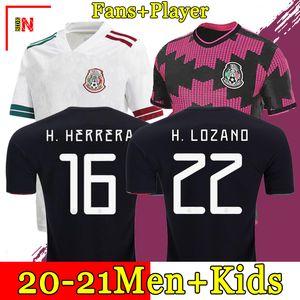 Mexiko Fußballtrikots Copa America Camisetas 20 21 Fans Spielerversion CHICHARITO LOZANO DOS SANTOS 2021 Fußballtrikots Herren + Kinder Sets Kit