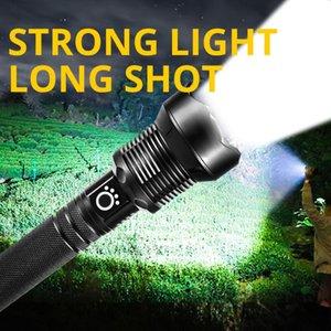 Ultra brillante LED XHP50 XHP70 XHP90 Zoomable 3/5 Modos de iluminación Táctica Antorcha USB Carga recargable Linterna linternas Antorchas