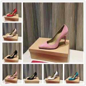 Top Quality Shoe Red Bottom Tacchi alti con tacchi alti Nude Color Sandali appuntiti Moda Banchetto Stilista Stilisti Dress Shoes Shoes Pelle con borchie