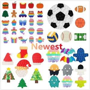 Fidget игрушки Рождественская елка формы Push It Bubble Sensosory Autism Специальное нуждается в стресс сжатие Сжатие сенсорных декомпрессии для детей семьи DHL FY4381